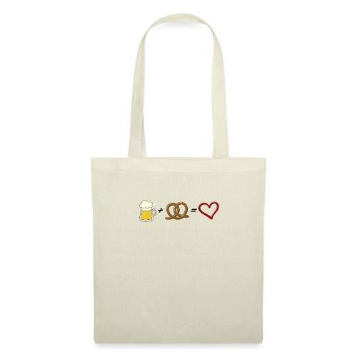 pretzel + beer = love - Tote Bag
