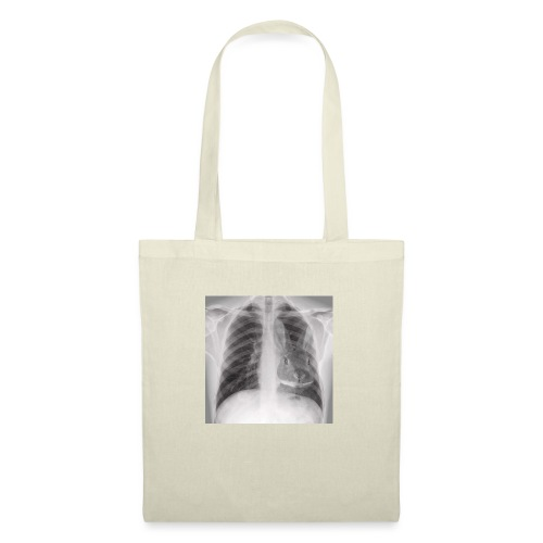 Röntgenbild Kaninchenherz hell - Stoffbeutel