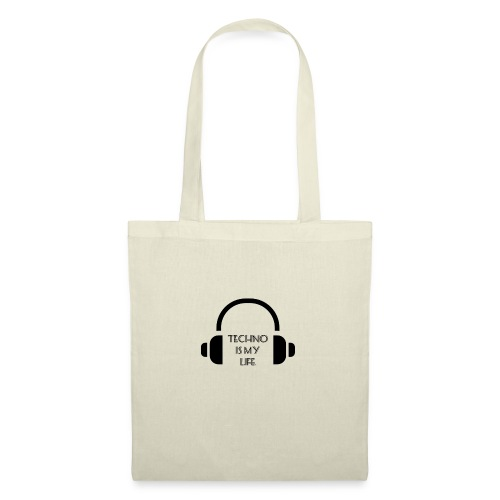 TECHNO IS MY LIFE - Sac en tissu