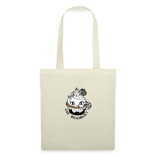 Live Deliciously Logo - Tote Bag