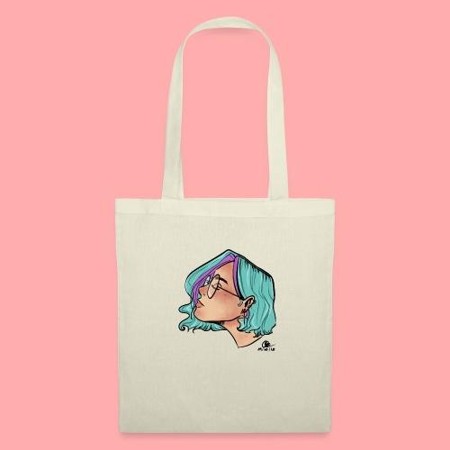 Blue hair girl - Sac en tissu