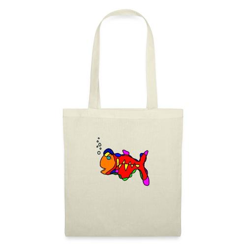 Tusche Fisch --- one line - Stoffbeutel
