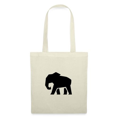 Schwarzer Elefant - Stoffbeutel