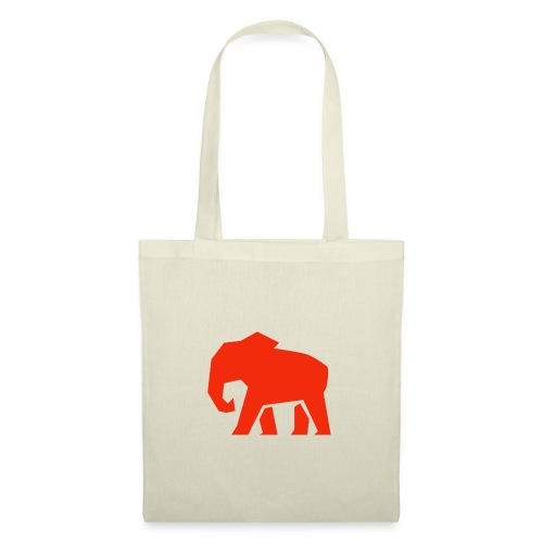 Roter Elefant - Stoffbeutel
