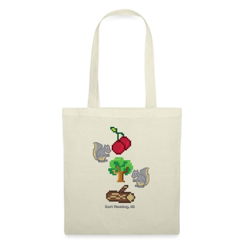 8 Bit Style Cherry Tree Wood Graphic - Tote Bag