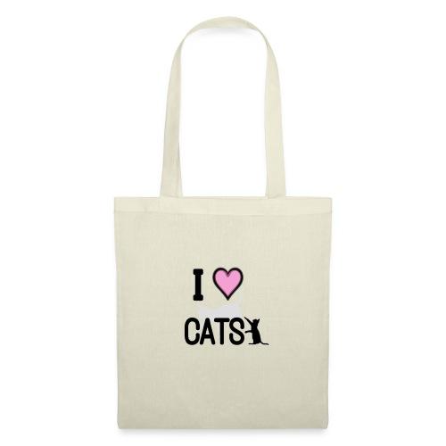 Tri-Blend I LOVE CATS T-Shirt - Tote Bag