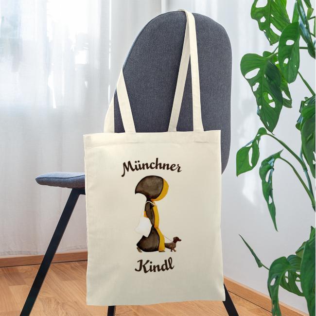 Münchner Kindl mit Dackel und Jutebeutel