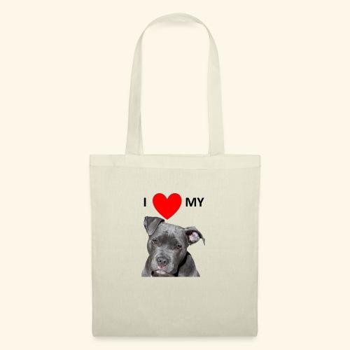 I love my Pitbull Hund Hunde Herrchen Frauchen - Stoffbeutel