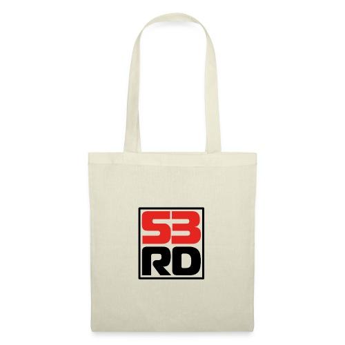 53RD Logo kompakt umrandet (schwarz-rot) - Stoffbeutel
