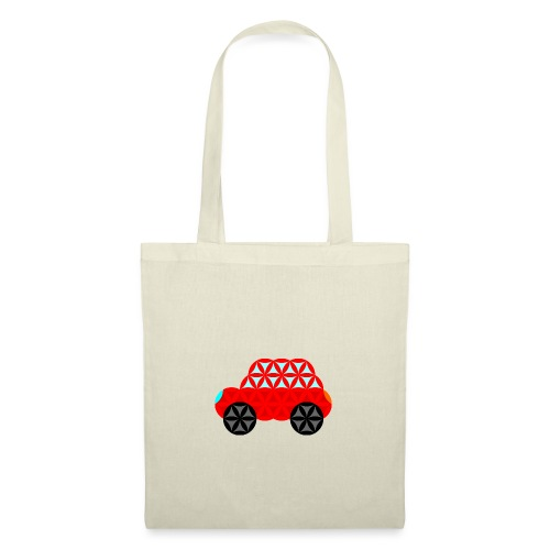 The Car Of Life - M01, Sacred Shapes, Red/R01. - Tote Bag