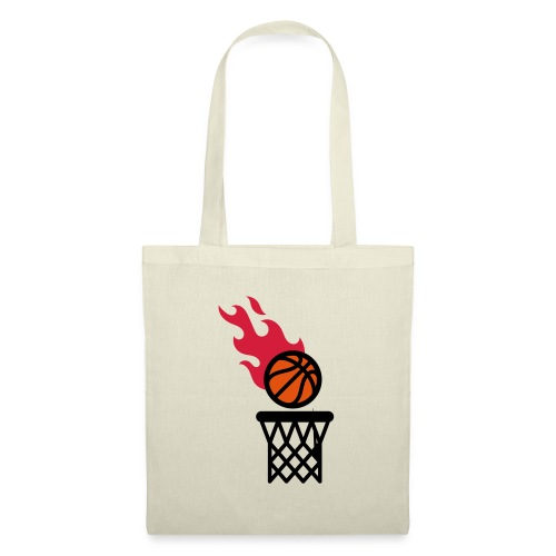 fire basketball - Tote Bag