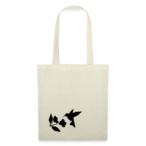 kolibrie met bloem - Tas van stof