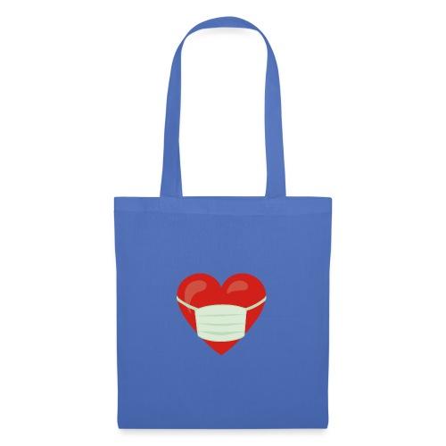 Herz mit Mundschutz - Stoffbeutel