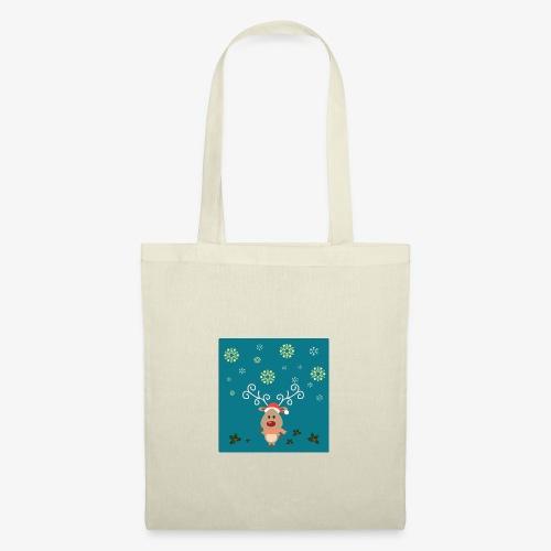 petit cerf fond bleu - Tote Bag