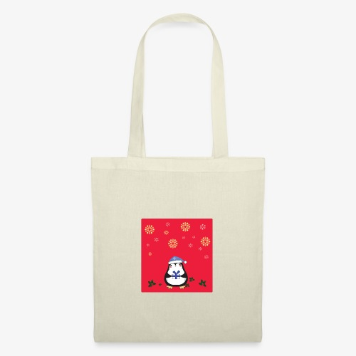 pingouin fond rouge - Tote Bag
