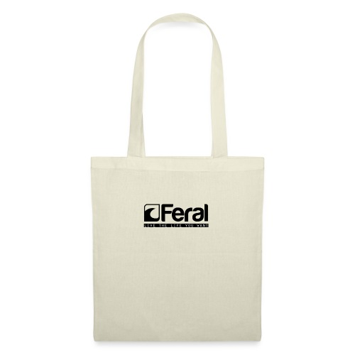 Feral Surf - Live the Life - Black - Tote Bag