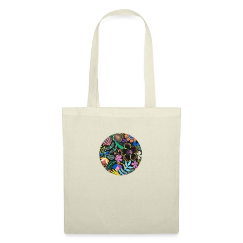 Flowers in the dark - Bolsa de tela