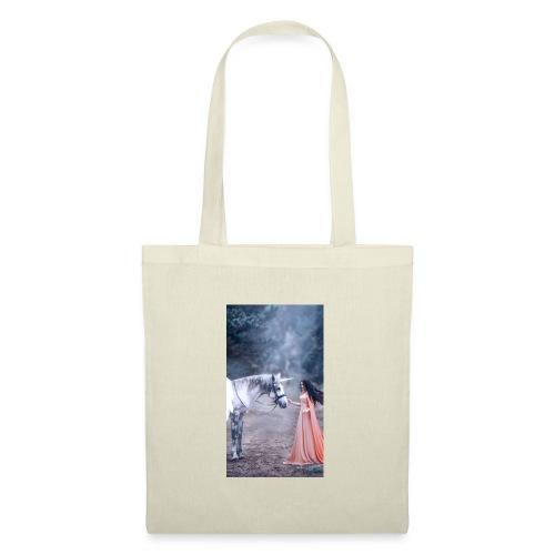 Unicornio con mujer bella - Bolsa de tela