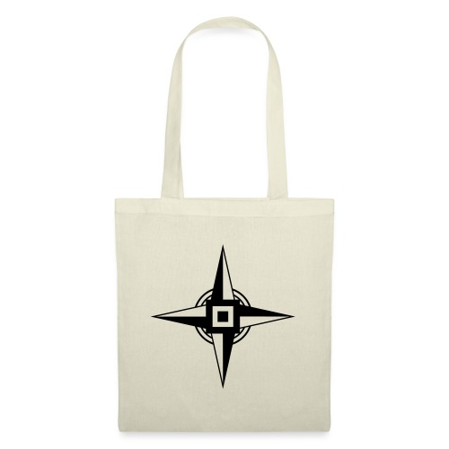 Erdenstern, Symbol, Vierzackiger Stern, Windrose - Stoffbeutel
