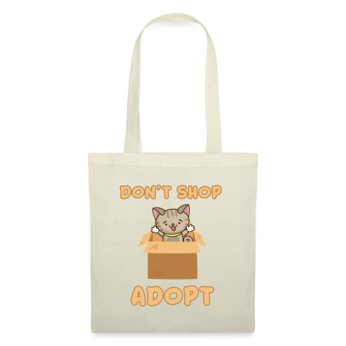 ADOBT DONT SHOP - Adoptieren statt kaufen - Stoffbeutel