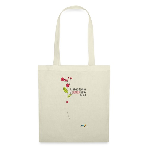 Ladybird Women's T-Shirt - white and ecru - Tote Bag