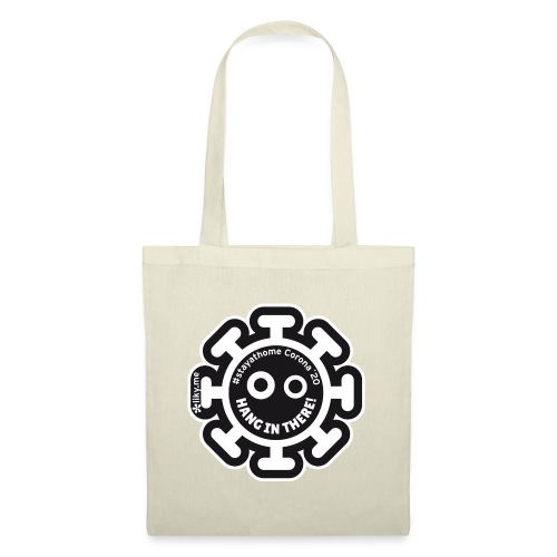 Corona Virus #stayathome black - Tote Bag