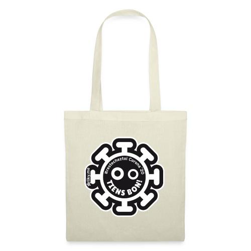 Corona Virus #restecheztoi noir - Bolsa de tela