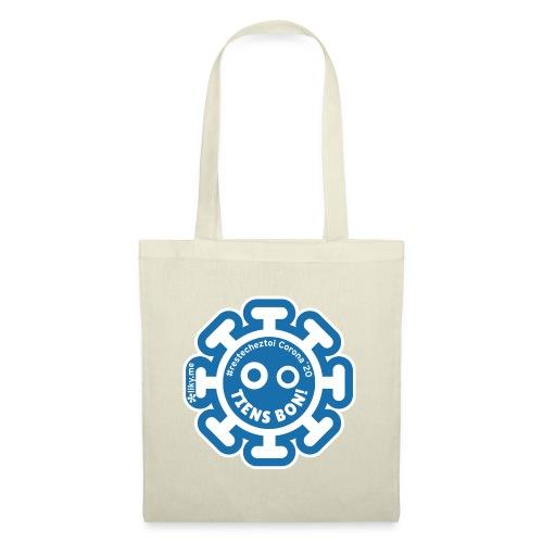 Corona Virus #restecheztoi gris bleu - Bolsa de tela