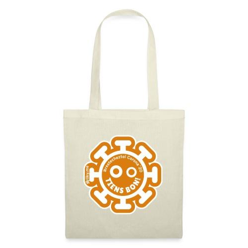 Corona Virus #restecheztoi arancione - Borsa di stoffa