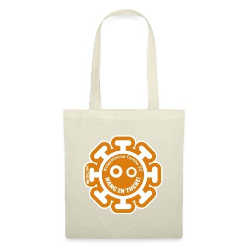 Corona Virus #stayathome orange - Bolsa de tela