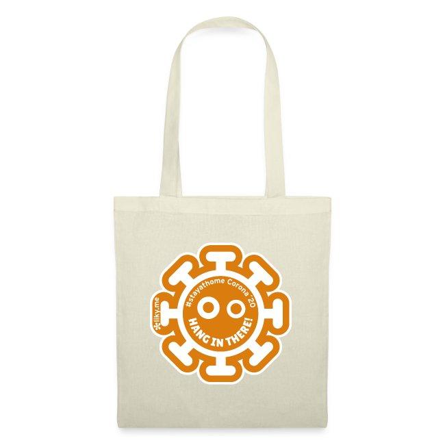 Corona Virus #stayathome orange