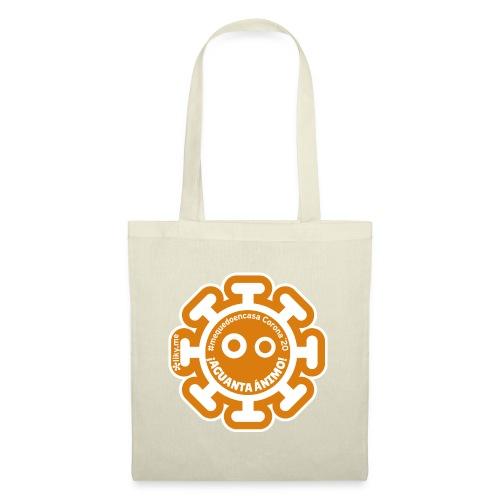 Corona Virus #mequedoencasa arancione - Borsa di stoffa