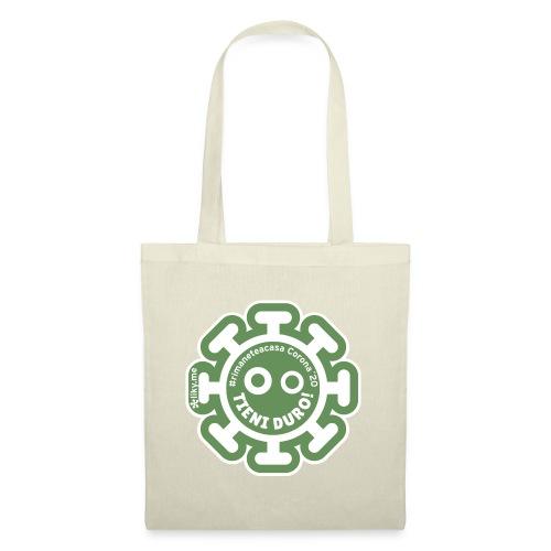 Corona Virus #rimaneteacasa verde - Bolsa de tela