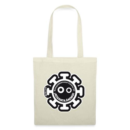 Corona Virus #mequedoencasa negro - Bolsa de tela