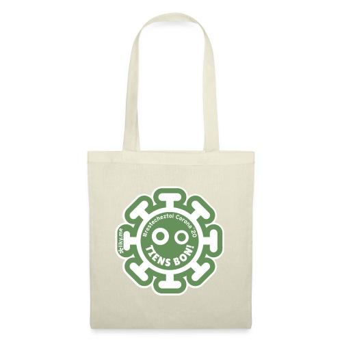 Corona Virus #restecheztoi vert - Bolsa de tela