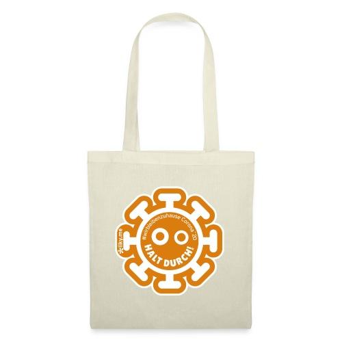 Corona Virus #WirBleibenZuhause arancione - Borsa di stoffa