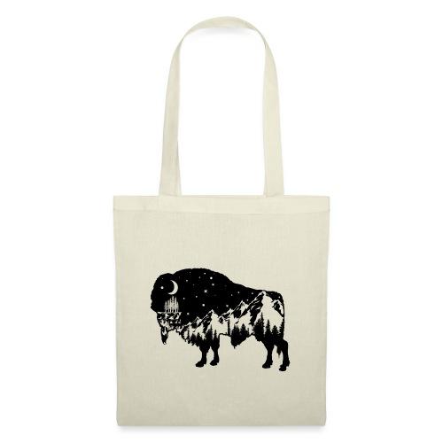 Die wilde Natur im Bison - Stoffbeutel