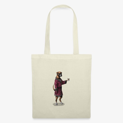 Boxer in a posh jacket - Tote Bag