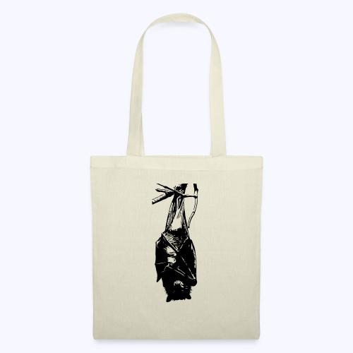 HangingBat schwarz - Stoffbeutel