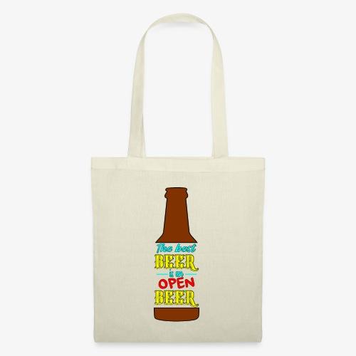 The Best BEER is an open BEER - Stoffbeutel