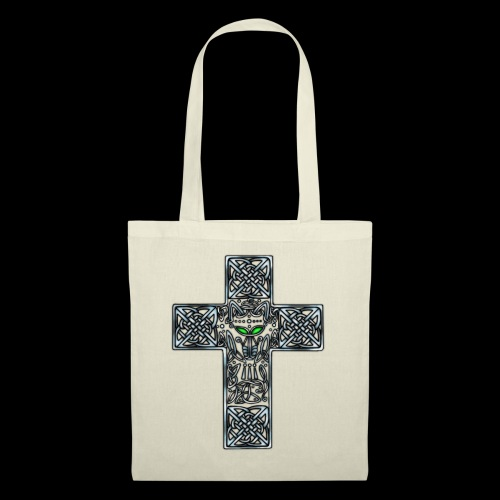 Wolf s Head Cross Silver - Tote Bag