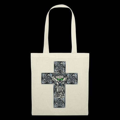 Wolf s Head Cross Silver - Tote Bag