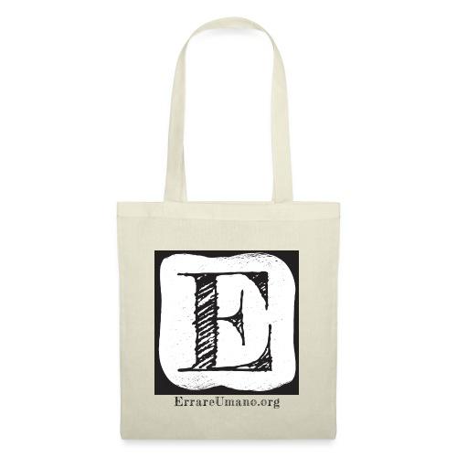 Logo ErrareUmano (scritta nera) - Borsa di stoffa
