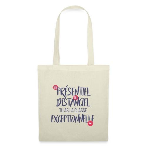 Présentiel, distanciel, exceptionnel(-le) - Tote Bag