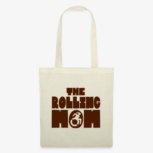 De rollende moeder in een rolstoel - Tas van stof