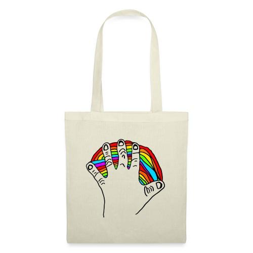 Anna's rainbow hand for peace - Stoffveske
