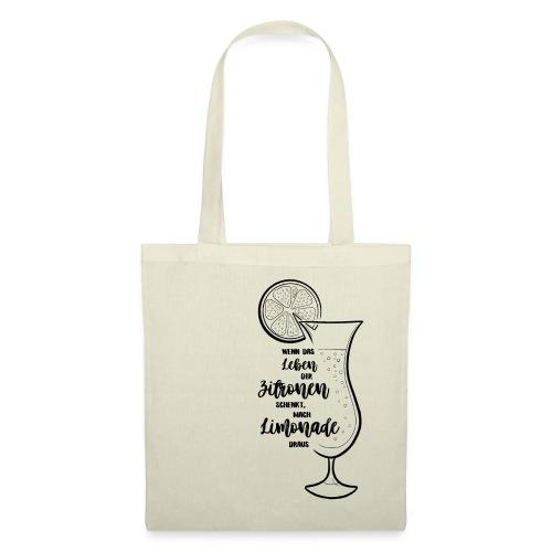 Wenn das Leben dir Zitronen schenkt - Illustration - Stoffbeutel