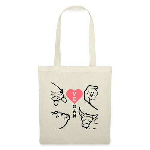 Coeur de végan - Tote Bag