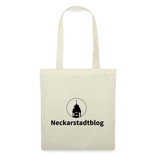 Neckarstadtblog – Logo und Schriftzug - Stoffbeutel