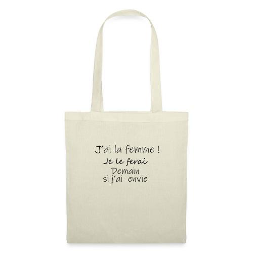 FLEMME ! - Tote Bag